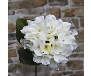 Hvid kunstig hortensia